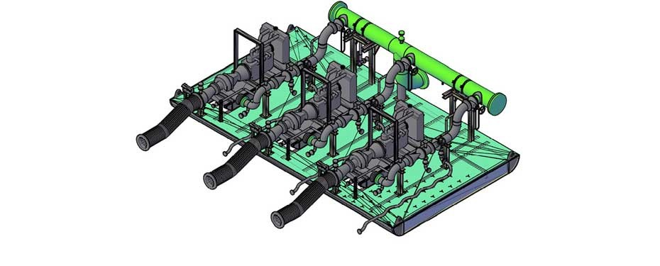 Syncrude Pump Skid Design - TEMEC, water transfer engineering, slurry pump in canada