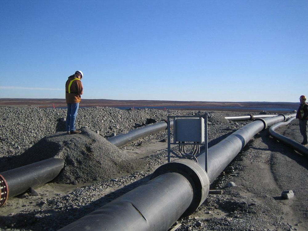 Diamond Mine Pit Tailings – Slurry Pipeline