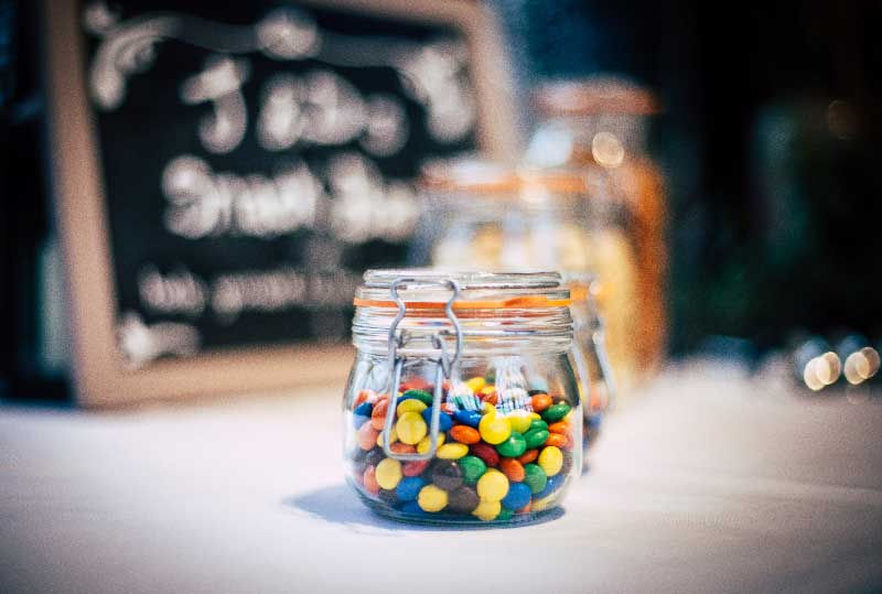 Jar with candies